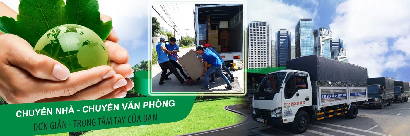 slide dịch vụ vận chuyển nhà, kho xưởng, văn phòng, taxi tải giá rẻ tp hcm Sài Gòn Xanh 1